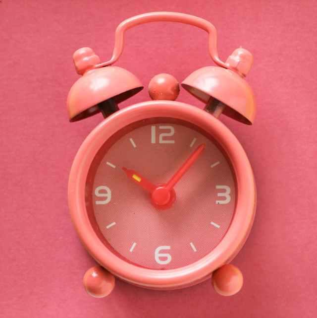 close up photography of alarm clock